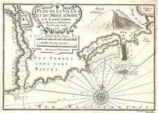 Antica mappa, Plan de ville et du TALPE D'AGDE EN Languedoc