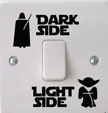 Star Wars Dark Light Side Light Switch Kids Wall Sticker Home Room Vinyl Decals