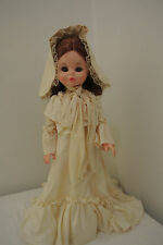"""Vintage Furga Old Fashion Doll """"Ivonne"""" 17"""" Made in Italy"""