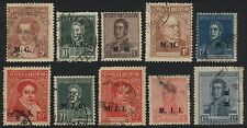 10x ARGENTINA Official Department Postage Stamp Ministry Overprints Used