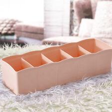 5 Cells Plastic Organizer Storage Box Tie Bra Socks Drawer Cosmetic Divider Hot