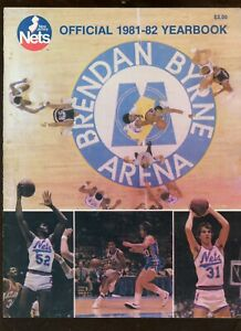 1981/1982 NBA Basketball New Jersey Nets Yearbook EX