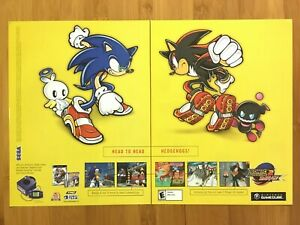Sonic Adventure 2 Battle Gamecube 2002 Print Ad/Poster Original Official Pop Art