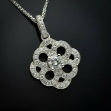 2.76 Ct Round Cut Off White Moissanite Only Pendant 925 Sterling Silver