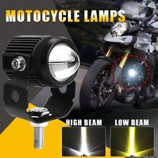 2X 125W Projector LED Motorcycle Headlight Spotlights Work Fog Light White/Amber