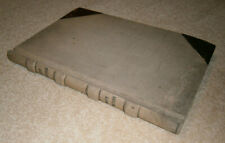 Antique Large Ledger Book Handwritten Unity Cemetery Bruial Lot Record Vintage