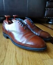 Vintage Hanover MasterFlex Chili Brown Leather Cap Toe Oxfords Wide Size 9 EEE/E