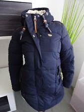 Ragwear Steppmantel Mershel G. XS L XL blau navy Jacke Winterjacke mit Teddyfell