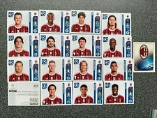PANINI CHAMPIONS LEAGUE 2011/12 AC MILAN COMPLETE SET 17 STICKERS