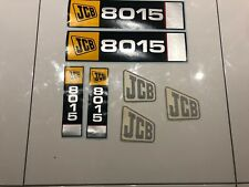 JCB 8015 Excavator Mini digger Machine Decals Stickers