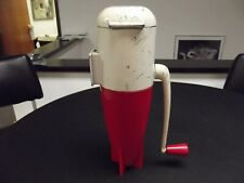 Vintage Dazey Rocket Triple Ice Crusher Red