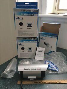 3 Bullet Dummy Fake Surveillance Security Cameras Indoor/Outdoor Weatherproof