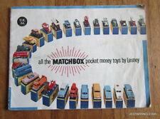 VINTAGE CATALOGUE 1960 MATCHBOX POCKET MONEY TOYS BY LESNEY