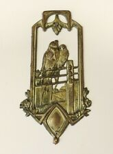 GREAT ANTIQUE OLD BRONZE ( SILVER PLATED ) EMBLEM FOR ALBUM-BOOK 1900s.