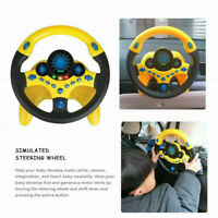 Kids Copilot Simulated Steering Wheel Racing Driver Toy Educational Sound Toys
