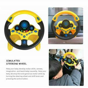 Child Copilot Simulated Steering Wheel Racing Driver Toy Educational Sound Toys