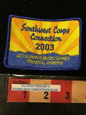 03 Southwest Corp Connections DCI Summer Music Games PHOENIX ARIZONA PATCH 63G2