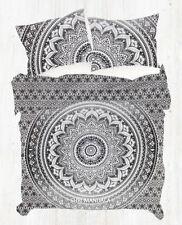 Gray Ombre Hippie Mandala Twin Single Size Duvet Quilt Cover Set Pillow Cover
