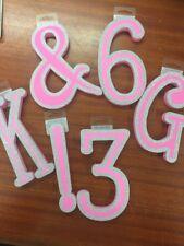 BNWT Self Adhesive Foam Letter Pink I Girls Bedroom Toyroom Decorative Make Name