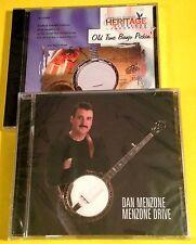 """DAN MENZONE """"Menzone Drive"""" CD + JIMMY BROWN """"Old Time Banjo Pickin'"""" CD (New!)"""