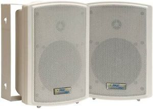 "Pyle PDWR5T 5.25"" Indoor/Outdoor Waterproof Speakers with 30W 70V Transformer"
