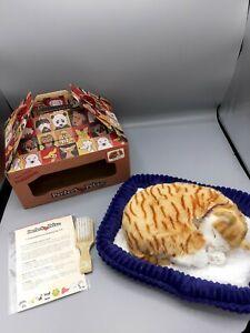 Brand New in Box BNIB Perfect Petzzz 65431 Orange Tabby Cat with Bed & Brush