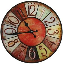 Glas Uhr Vintage Colours 28 cm rot Wanduhr Glasuhr Quarzuhr Shabby Retro