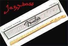 "New Neck JAZZ BASS - FENDER - 0996202921 - maple - 20 frets - radius 9""5"