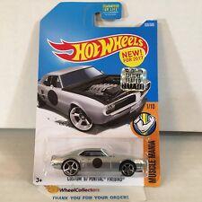 Custom '67 Pontiac Firebird #335 * Silver * 2017 Hot Wheels FACTORY SET * Y