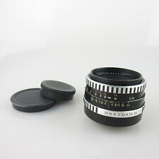 M42 Carl Zeiss cebra pancolar 1.8/50 objetivamente/lens