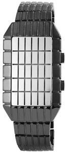Excellanc Herrenuhr Titan-Look Matrix Datum Metall Quarz Binär D-200671000010