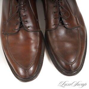 Allen Edmonds Made in USA Oak Brown Leather Seneca Derby Split Toe Shoes 9 E NR