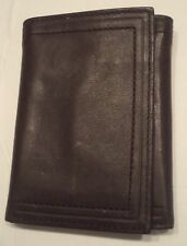 Buxton Vertical Slot Genuine Leather Trifold Wallet,Brown