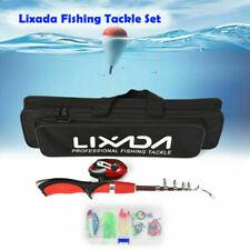 Lixada Portable 1.4m Telescopic Fishing Rod and Closed Fishing Reel Combo Set