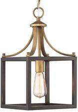 Home Decorators Collection Pendant Light Ceiling Fixture Vintage Brass Farmhouse