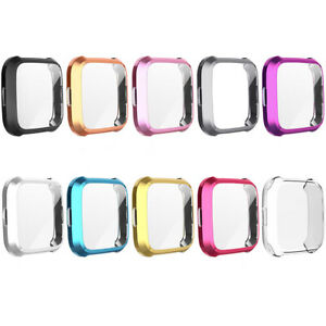 For Fitbit Versa Lite Watch Case Slim Full Screen Protector Protect Bumper Cover