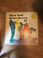 "OSCAR BROWN Jr ""Sin & Soul"" LP COLUMBIA Collectors Series NM"