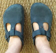 BIRKENSTOCK BERN MULE CLOGS SANDALS SZ 38 WOMEN 7 MEN 5 SLATE NUBUCK LEATHER