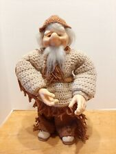 "Vintage Troll Doll Norwegian /German Smiling Mountain Man Poseable 18"" Tall"
