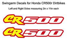 Swingarm Decals for Honda CR500r dirtbike - CR500 CR 500 500R