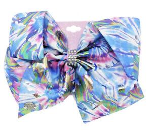 "Jojo Siwa Girls Stripe Hair Bow Pastel 6""X5"""