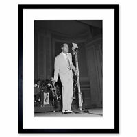 Vintage Music Louis Armstrong Jazz Legend Framed Wall Art Print