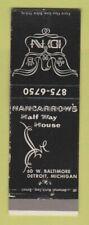Matchbook Cover - Nancarrow's Half Way House Detroit MI WEAR