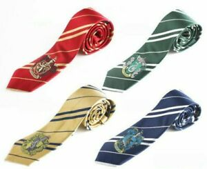 For Harry Potter Cosplay Gryffindor Slytherin Hufflepuff Ravenclaw Necktie Tie