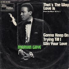 "MARVIN GAYE THAT'S THE WAY LOVE IS / GONNA KEEP ON... 1969 RECORD GERMANY 7"" PS"
