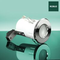 Robus RFS10165 Fire Rated MR16 IP65 Bathroom Downlight Polished chrome