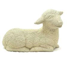 Vintage Baby Lamb Large Solid Stone Outdoor Garden Concrete Sheep Statue Decor