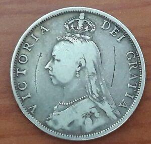 1890 Victoria Silver Florin Coin #92