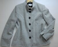 Womens GRAY & OSBOURN WOOL & CASHMERE COAT Size UK 16 Fabric Made In Italy Grey