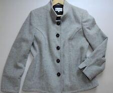 Para mujer Gray & Osbourn Lana & cachemira abrigo Size UK 16 gris tela hecha en Italia